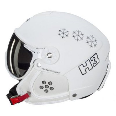 HAMMER [17/18] 바이저 헬멧 H3-321 SNOWFLACKE WHITE SWAROVSKI